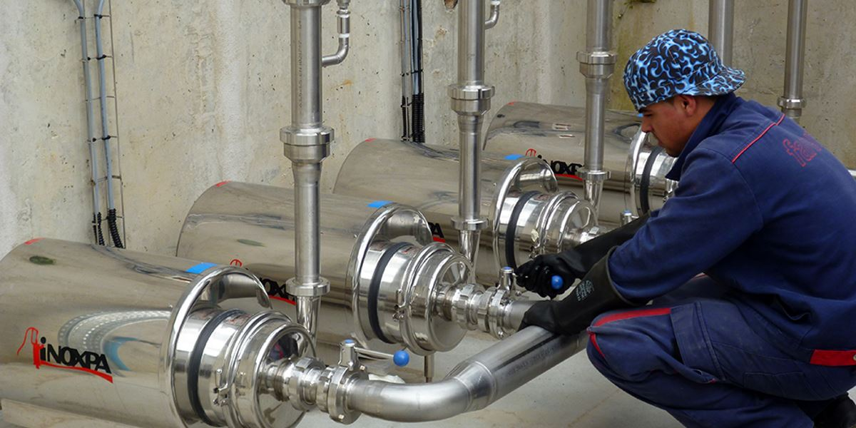 Instalação de Desferrização de Água Mineral Gaseificada